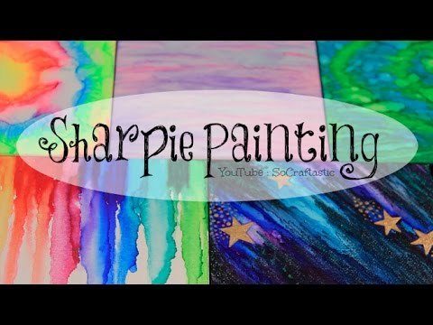 DIY SHARPIE WATERCOLOR PAINTING with alcohol // Galaxy, Tie Dye, & More