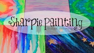 diy sharpie watercolor painting with alcohol galaxy tie dye more