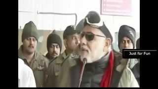 PM Narendra Modi Singing Hindustani (Suno Gaur Se Duniya Walo) Song