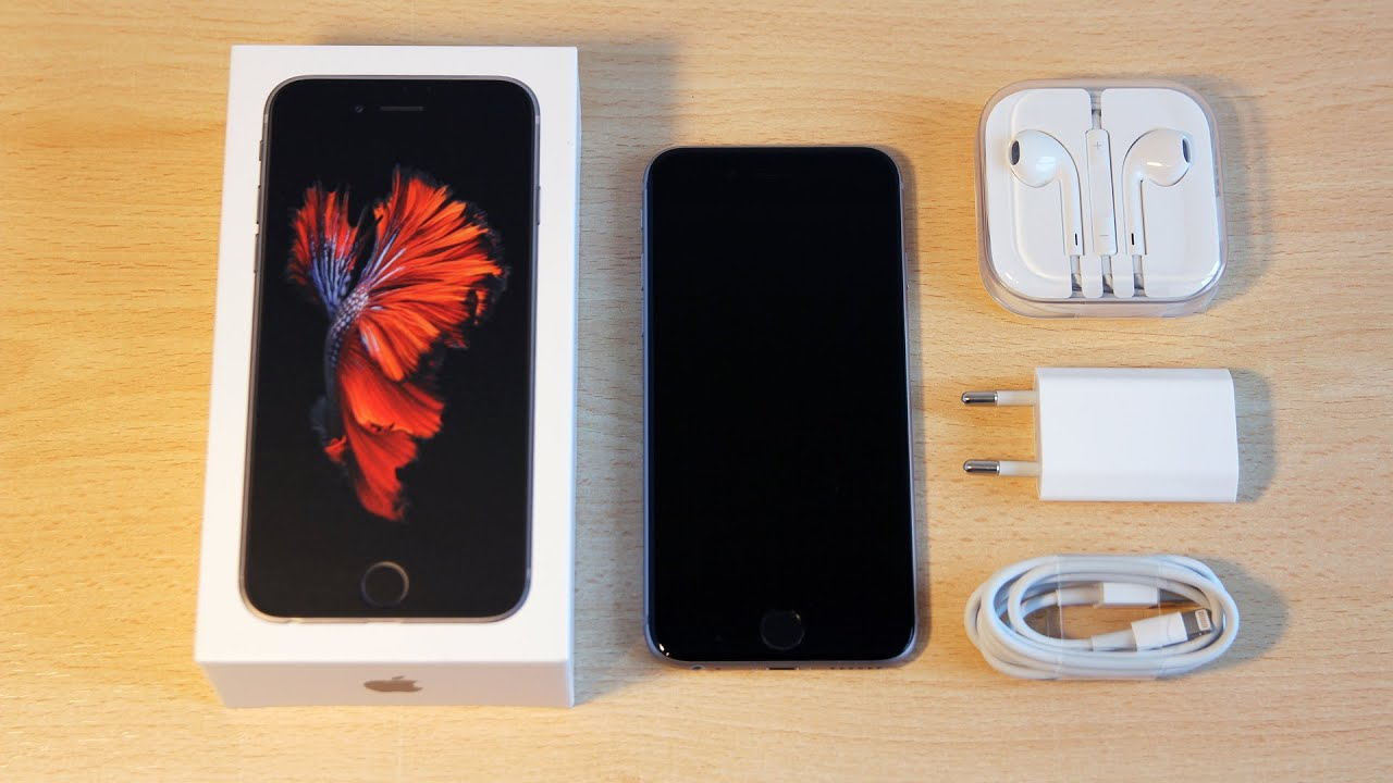 unboxing of the iphone 6s 64gb space grey in english youtube. Black Bedroom Furniture Sets. Home Design Ideas