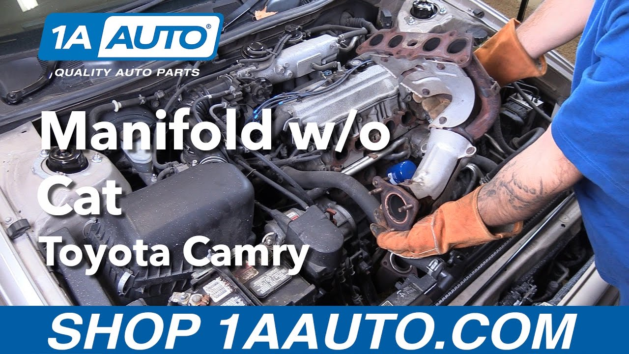how to replace install exhaust manifold without cat 1998 toyota camry buy auto parts at 1aauto com [ 1280 x 720 Pixel ]