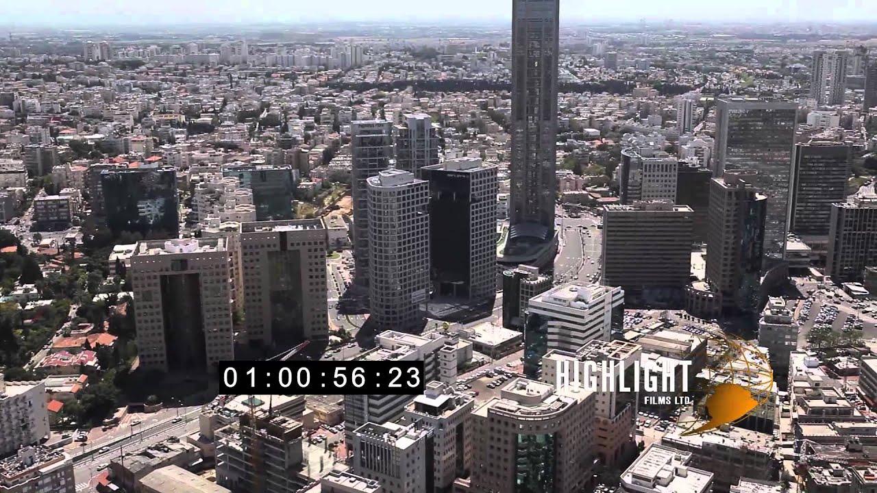 HD Aerial Footage Of Israel: Tel Aviv Urban View 1080/25p