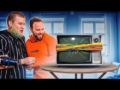 Телевизор VS 1000 + РЕЗИНОК! Канцелярские Резинки ЧЕЛЛЕНДЖ!