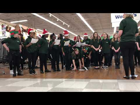 Crawford middle school caroling at meijers