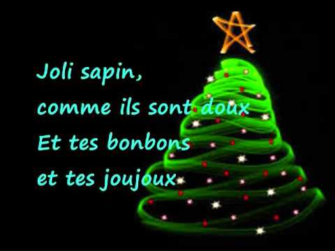 mon beau sapin paroles