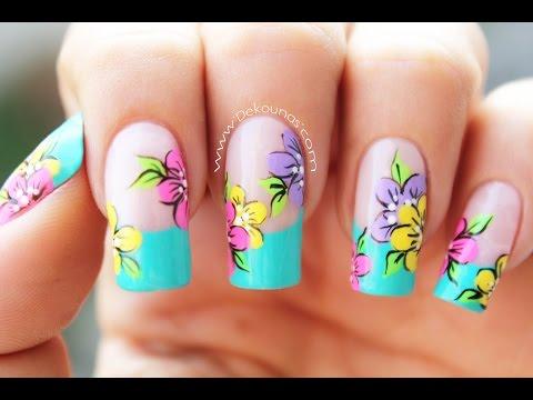 Decoración De Uñas Flores Flowers Nail Art Youtube