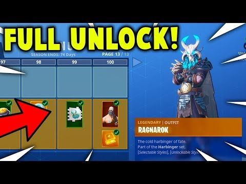 BUYING ALL 100 TIERS! Season 5 BATTLE PASS *ALL SKINS UNLOCKED* (Fortnite Battle Royale)
