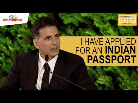 #HTLS 2019: Akshay Kumar Reveals The Story Behind His Canadian Passport
