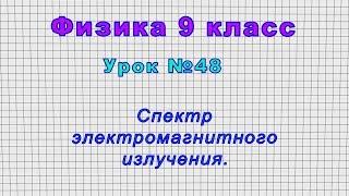 Физика 9 класс (Урок№48 - Спектр электромагнитного излучения.)