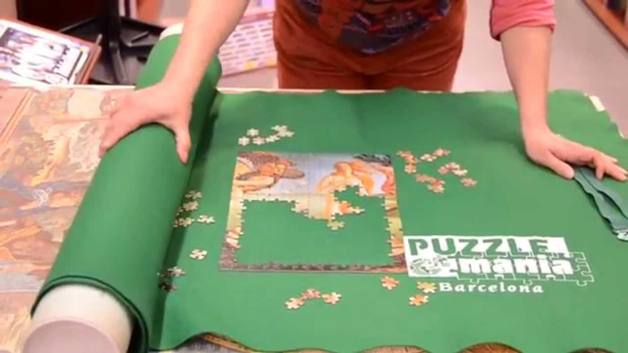Cómo usar el puzzle roll la tela enrollable para guardar puzzles ...