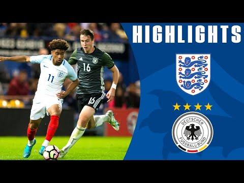 England U19 1-3 Germany U19 (2017 International Friendly)   Official Highlights
