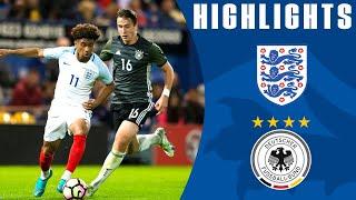 England U19 1-3 Germany U19 (2017 International Friendly) | Official Highlights
