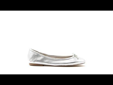 3a66daa4c Sam Edelman Felicia Leather or Suede Ballet Flat - YouTube