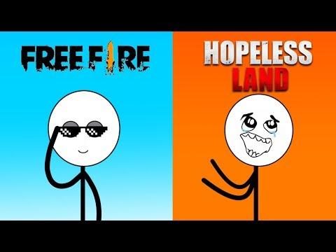 Free Fire Gamer Vs Hopeless Land Gamer