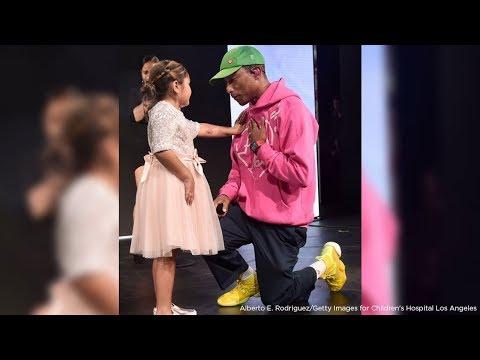 Children's Hospital LA alumna steals Pharrell Williams' heart at gala I ABC7
