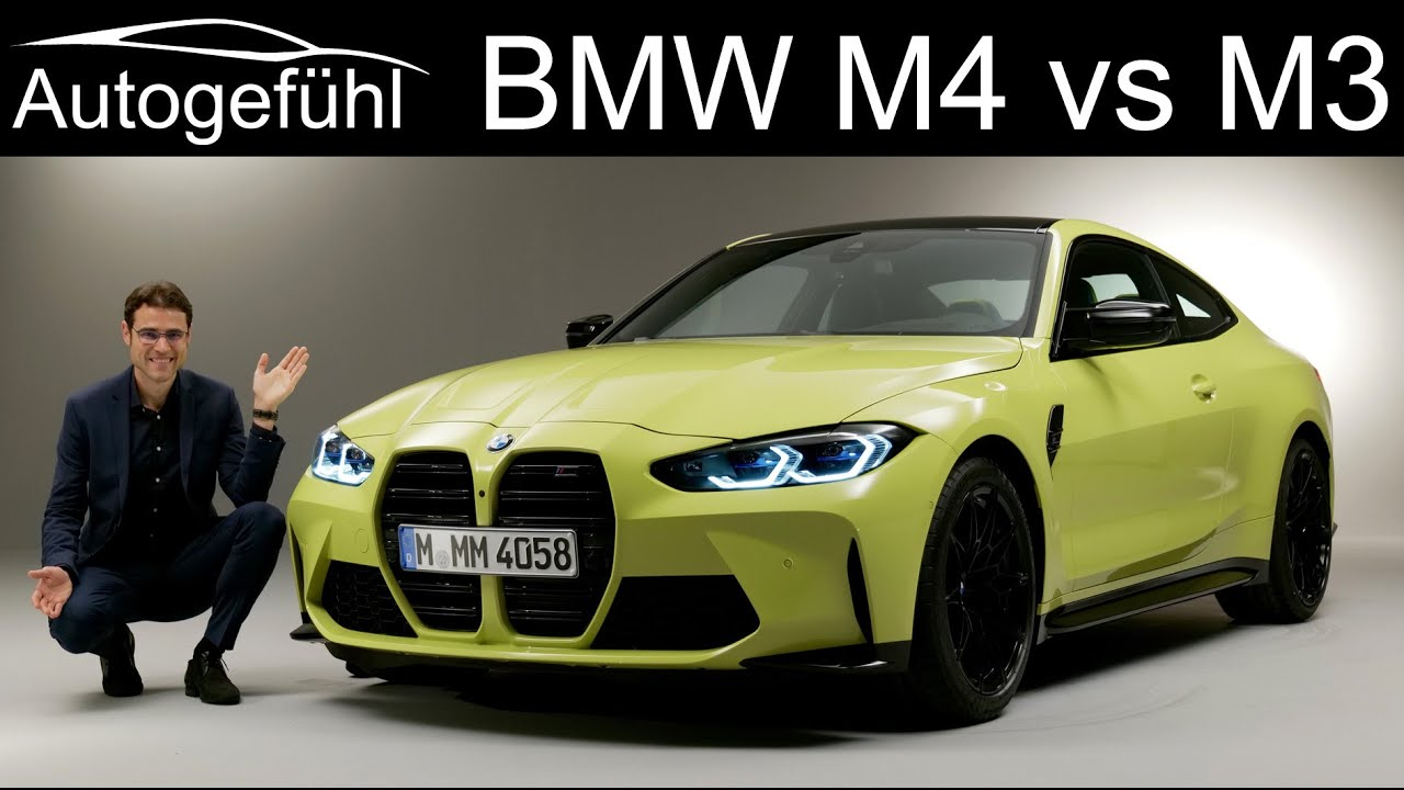 All New Bmw M4 Coupé Vs Bmw M3 Comparison Reveal 2021 3 Series G80 Vs 4 Series M Competition G82 Youtube