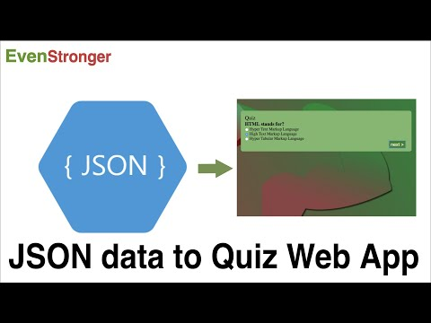 Quiz Test Web App using simple JSON data