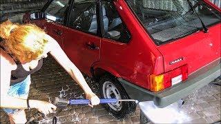 НОВАЯ 2109: первая мойка ВАЗ Lada Капсула времени Девятка