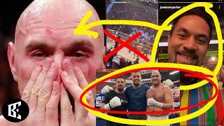TYSON FURY EXPOSED! JOSEPH PARKER DELETES EVIDENCE, AFTER ATTENDING MCGREGOR UFC264 VID-19 POSITIVE?