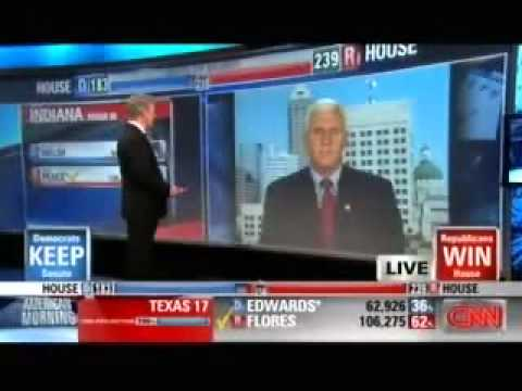 Mike Pence is Interviewed on CNN after the Midterm Elections