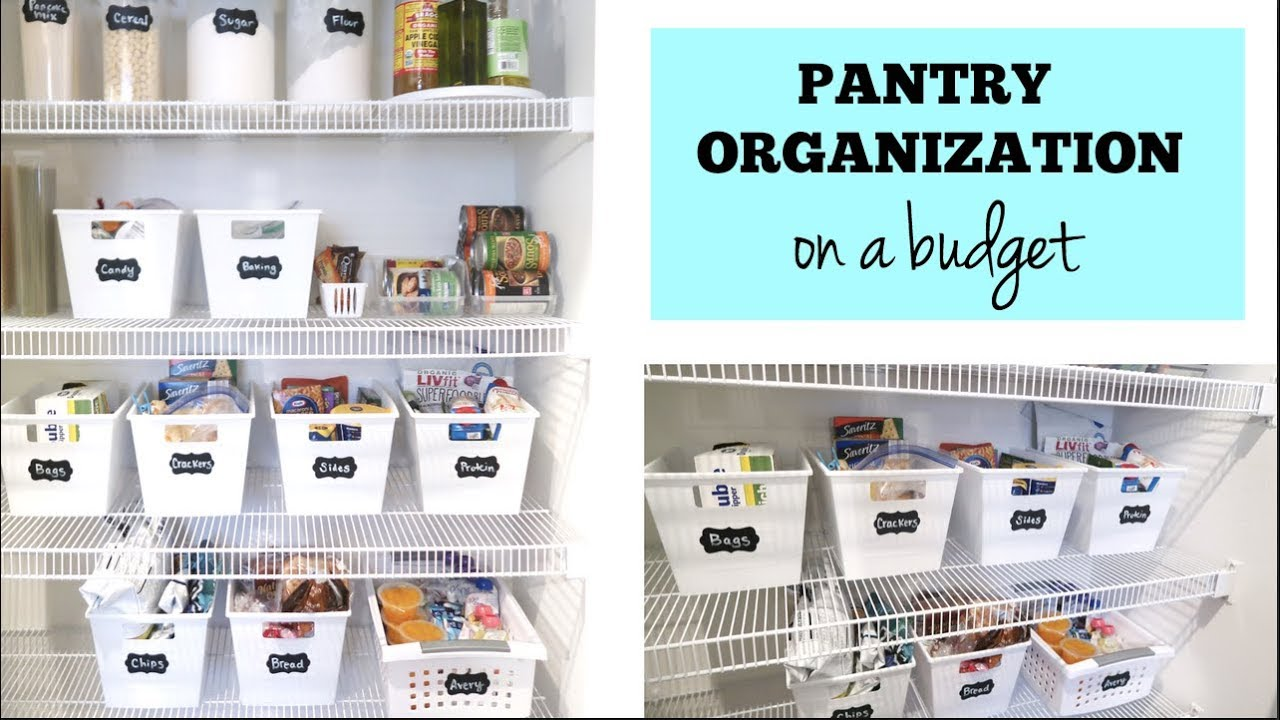 Pantry Organization How To Organize Your Pantry On A Budget Easy Cheap Pantry Organization Ideas