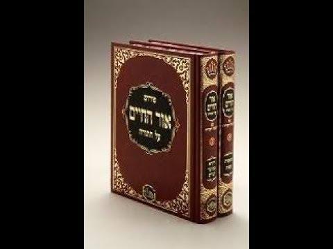 מה אומר אור החיים הקדוש על בני אהרון?! מדהים!! הרב אילן ויצמן