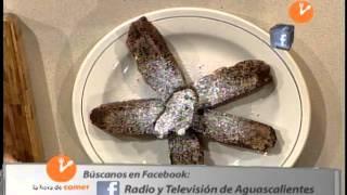 """Hora De Comer """"biscotti De Chocolate Y Amaretto"""" Producción Aguascalientes Tv"""