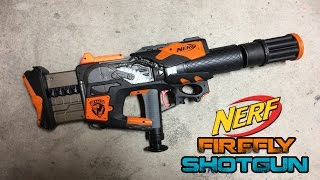 NERF N-strike Firefly SHOTGUN! Drain Blaster build by Chaylo! | Walcom S7