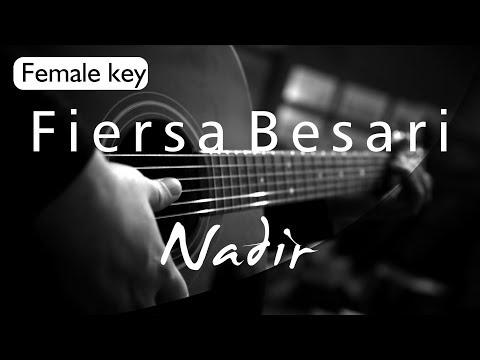 Fiersa Besari - Nadir Female Key ( Acoustic Karaoke )