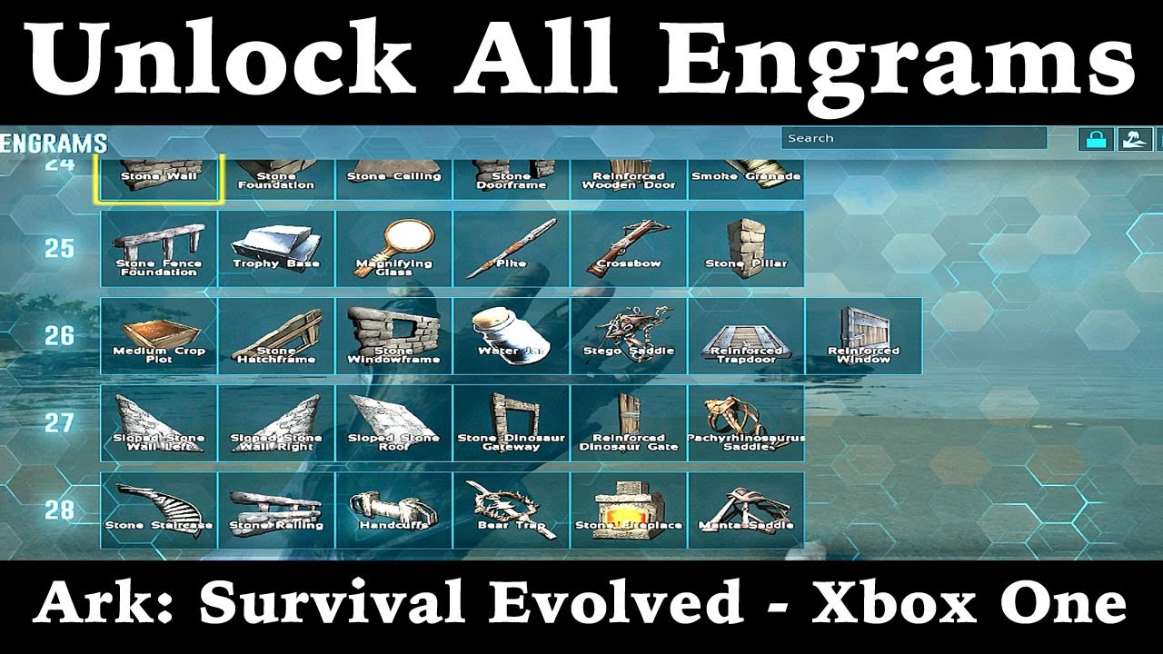 How to unlock all engrams ark survival evolved xbox one youtube how to unlock all engrams ark survival evolved xbox one malvernweather Images
