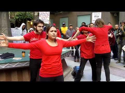Occupy Chicago STREET THEATRE