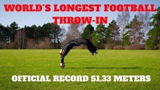 Soccer Flip Throw-in GUINNESS World Record 51,33 meters | Thomas Gronnemark