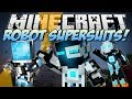 Minecraft | ROBOT SUPERSUITS! (Guns, Gadgets, Jetpacks & More!) | Mod Showcase