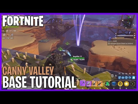 FORTNITE! Base Building Tutorial  Canny Valley! Fortnite