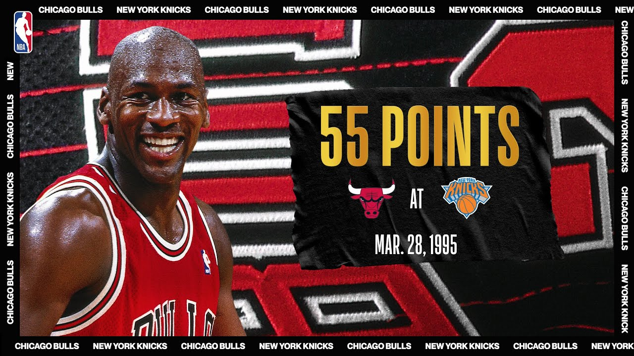 "Bulls @ Knicks: Michael Jordan's ""double-nickel"" game on March 28, 1995 #NBATogetherL"