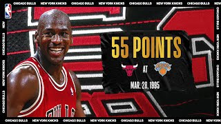 "Bulls @ Knicks: Michael Jordan's ""double-nickel"" game on March 28, 1995 #NBATogetherLive"