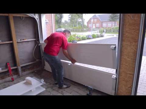 Tidssvarende Montering af garageport (bagmonteret fjedrer) - YouTube VT-76