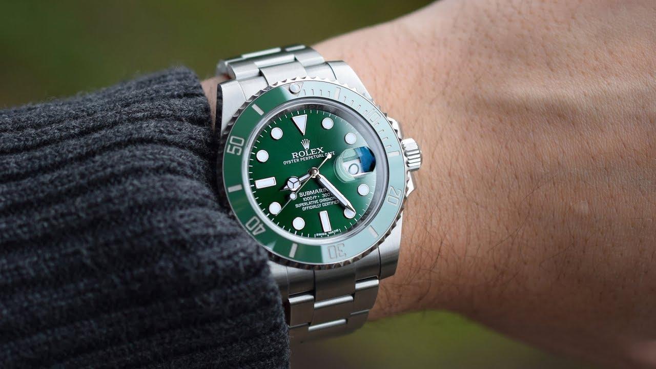 6acebf583f6 Rolex Submariner Hulk 116610LV - YouTube