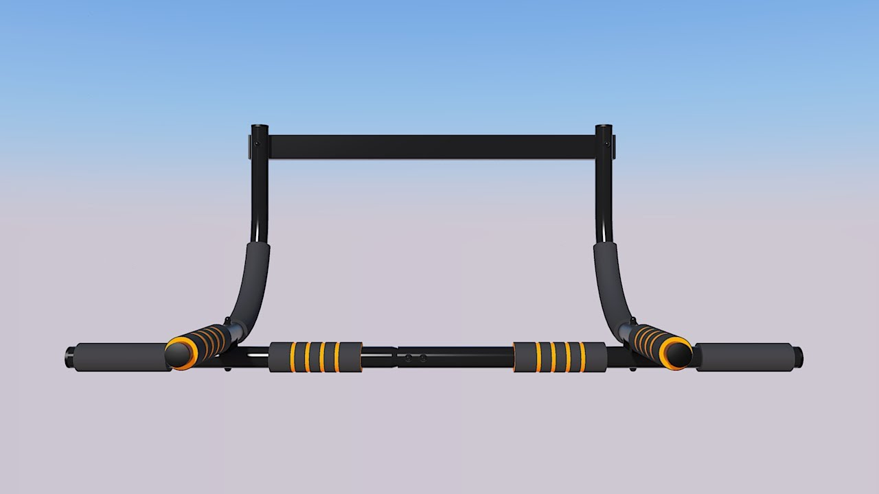 Door Pull Up Bar Sketchup 3d Model Youtube