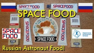 Space Food!  Commercial Russian Astronaut Food Taste Test
