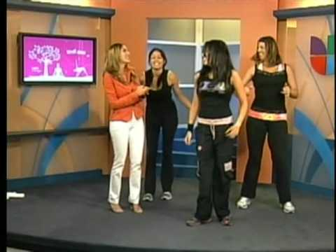 "San Diego's Zumba Instructor Ninfa Skezas on Univision's ""Despierta San Diego"" Cable Channel -17-"