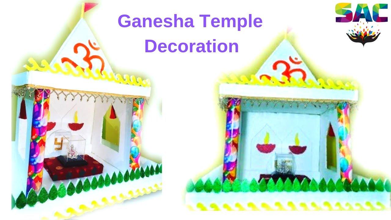 Download Ganpati Decoration Idea at Home | DIY temple at Home | Thermocol Decoration | Ganesh Chaturthi  |134