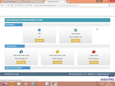 How To Make Payment Of ECR Other Than SBI
