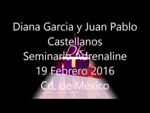 Diana Garcia y Juan Pablo  Seminario Adrenaline 2016
