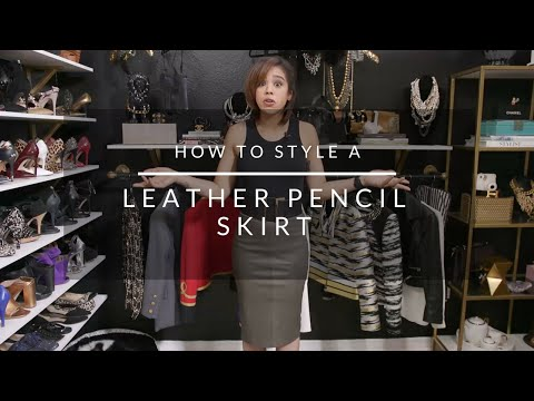 How To Style A Leather Pencil Skirt from YouTube · Duration:  5 minutes 37 seconds