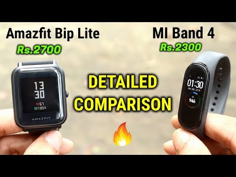 MI Band 4 vs Amazfit Bip Lite | DETAILED COMPARISON | INDIAN UNIT