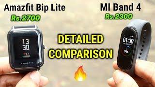 MI Band 4 vs Amazfit Bip Lite | DETAILED COMPARISON | INDIAN UNIT