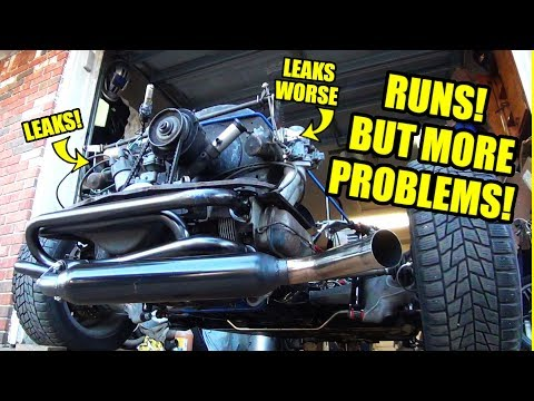 VW ENGINE RUNS! - More Problems - ROTTEN OLD 1956 VW Beetle - 80