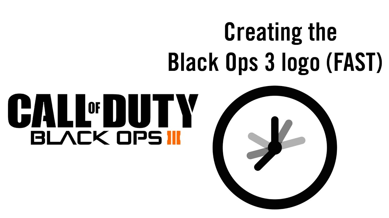 Creating The Black Ops 3 Logo In A Short Amount Of Time
