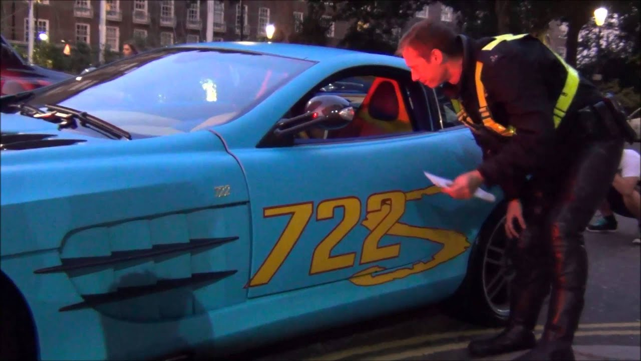 Blue Qatari SLR McLaren722 and DBS w/Quicksilver pulled over by police!!!